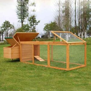 Wooden chicken cage hen house rainproof roof with plywood & SBS Material