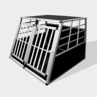 Aluminum Small Double Door Dog cage 89cm 75a 06-0772 Aluminum Dog cage: Pet Products, Dog Goods Small Double Door Dog cage 75a