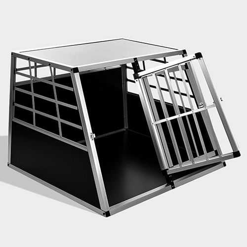 Aluminum Dog cage: Pet Products, Dog Goods Large Double Door Dog cage With Separate board 65a 06-0774 Large Double Door Dog cage With Separate board 65a 06-0774