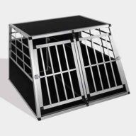 Aluminum Dog cage size 104cm Large Double Door Dog cage 65a 06-0775 Aluminum Dog cage: Pet Products, Dog Goods Dog Cage
