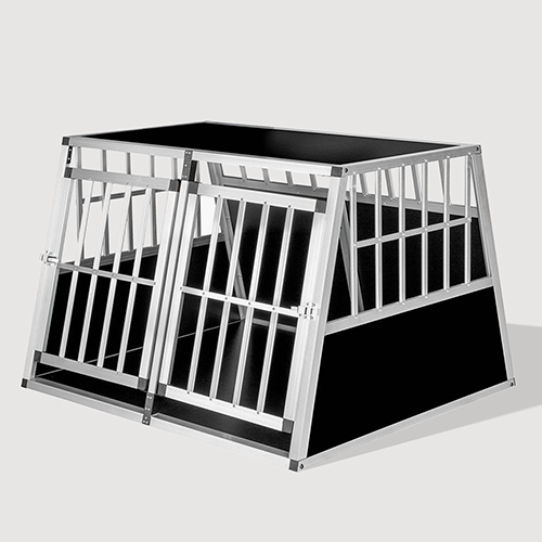Aluminum Large Double Door Dog cage With Separate board 65a 104 06-0776 Dog House: Pet Products, Dog Goods Large Double Door Dog cage With Separate board 65a 104