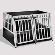 Aluminum Dog cage: Pet Products, Dog Goods Aluminum Dog cage Large Double Door Dog cage 75a 104 06-0777 Aluminum Dog cage Large Double Door Dog cage 75a 104 06-0777