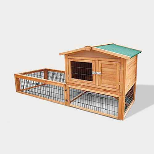 Selling Indoor Fir Wooden Rabbit Cage Outdoor Pet Cage