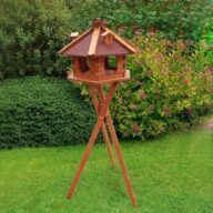 Fir bird feeder Roof Dia 48cm bird house height 33cm with solar and light 06-0977 Bird feeder, Bird Products Factory, Manufacturers & Supplier cat beds