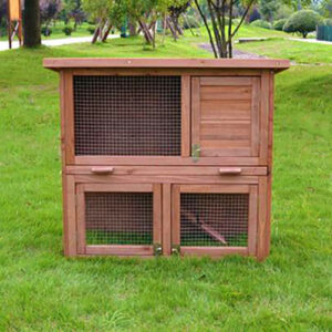 Selling wooden rabbit cage wood pet house size 145x 45x 84cm