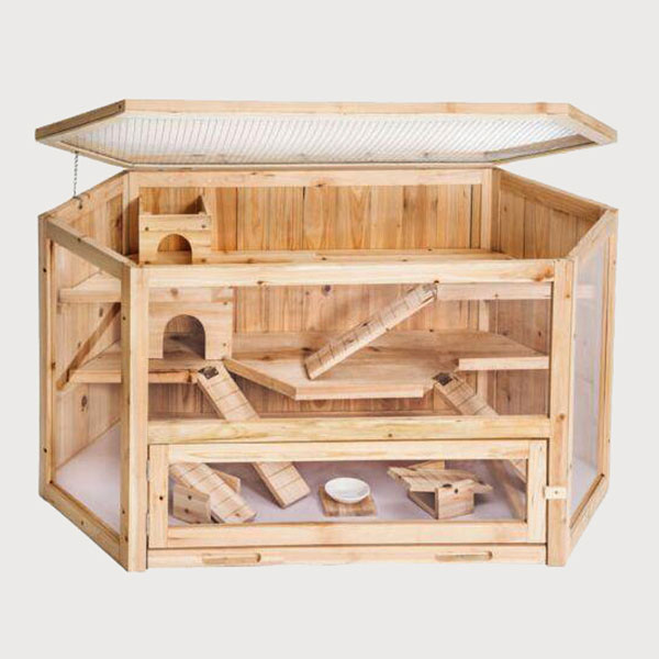 Wooden Chinchilla House Wooden chinchilla cage accessories 08-0106