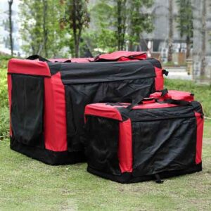 Red Pet dog travel carrier