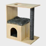Wood Cat House: Wooden Cat Tree Furniture 06-0197