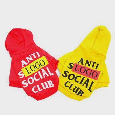 Dog Clothes Casual: Style Pet Hoodies with Letters 06-0474