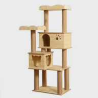 Rascador Para Gatos Customized Wooden Pet Cat Tree Tower House Condo