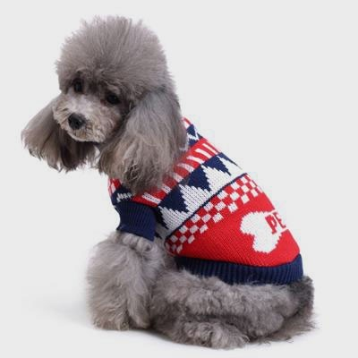 Pet Factory Design Cute Knitting Christmas Dog Sweater 06-1283