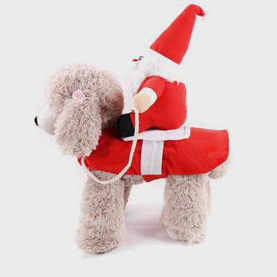 Funny Christmas Pet Costume With Santa Claus Dog Clothes 06-1304
