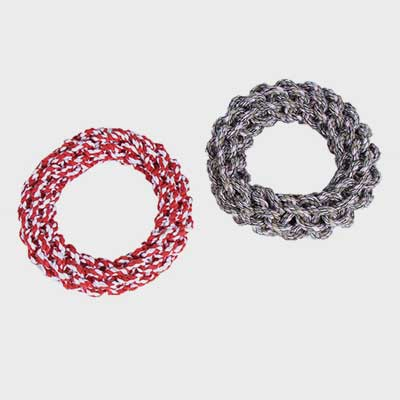 Dog Toy Donut: Customize Linen Rope Chew Toy Molars 06-0620