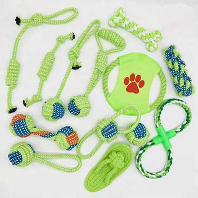 Dog Sex Cartoon Toy: Rope Chew 14 Pack Pet Dog Toys 06-0640
