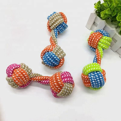 Pet Sex Toy: Colorful Dumbbell Small Dog Chew Dog Toy 06-0642