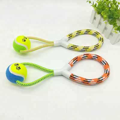 Creative Dog Toy: Number Eight Shape Tennis Cotton Rope 06-0645