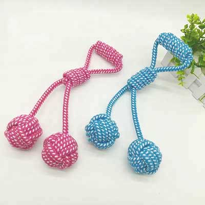 Pet Toys Knot: Cotton Rope Cleaning Grind Dog Toy 06-0649