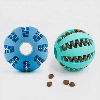 Tug Toy For Dogs: Mint Flavored Rubber Dog Ball 06-0670