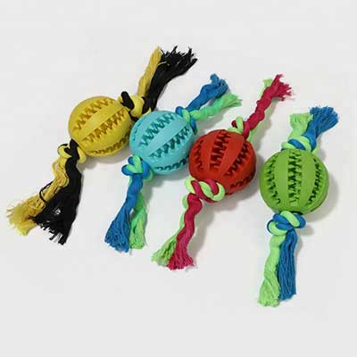 Dog Chew Toy: Watermelon Rubber Ball Cleaning 06-0676