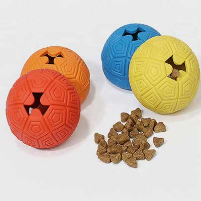 Dog Ball Toy: Turtle's Shape Leak Food Pet Toy Rubber 06-0677