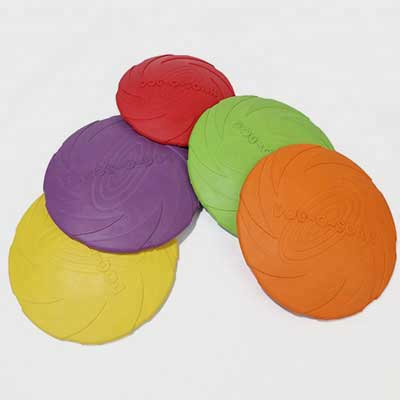 Rubber Pet Toy: Training Round Plate Natural Rubber 06-0683
