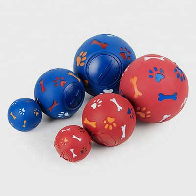 Dog Chew Ball: Milky Rubber Ball Food Spilling 06-0716
