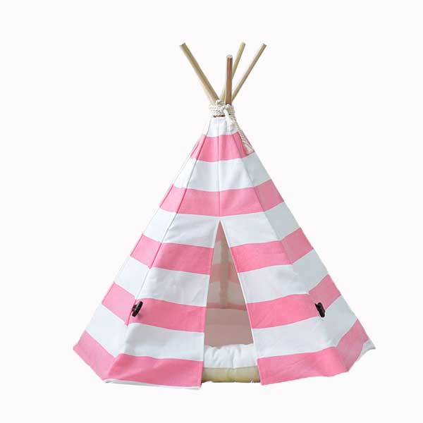 Canvas Teepee: Factory Direct Sales Pet Teepee Tent 100% Cotton 06-0943