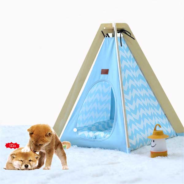 Animal Dog House Tent: OEM 100%Cotton Canvas Dog Cat Portable Washable Waterproof Small 06-0953