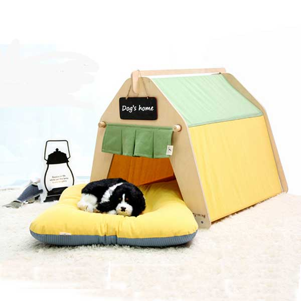 Pet Supplies Teepee Tent: Wholesale Dog Play Tent Removable Pets Bed 06-0960