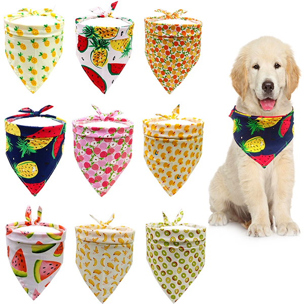 Pet Cat Dog Bandage Scarf Bibs Collar Grooming Triangular Scarf Supplies Apparel Costume  06-1569