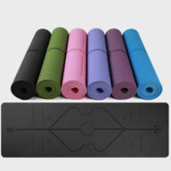 Fitness Equipment (10) Eco-friendly Multifunction Beginner Yoga Mat With Body Line Thickened Widened Non-slip Custom TPE Yoga Mat Eco-friendly Multifunction Beginner Yoga Mat With Body Line Thickened Widened Non-slip Custom TPE Yoga Mat