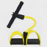Pedal Rally Abdominal Fitness Home Sports 4 Tube Pedal Rally Rope Resistance Bands Elastic Foot Pull Rope 10mm NBR Yoga Mat